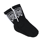 Socks with Knit-In Logo (1 Pair)