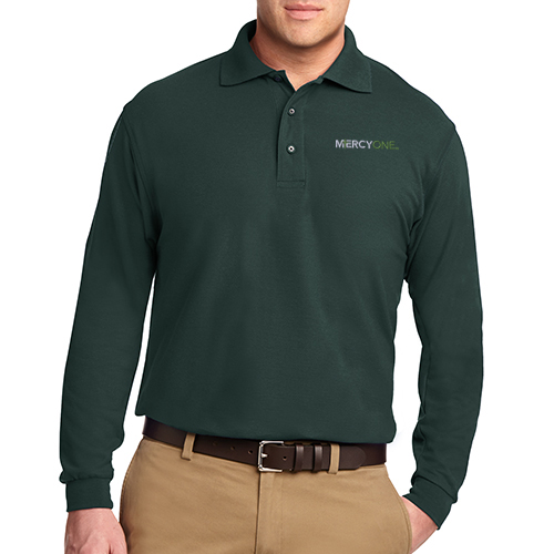 Port Authority Men's Silk Touch Long Sleeve Polo