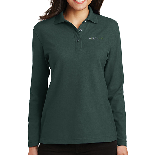 Port Authority Women's Silk Touch Long Sleeve Polo