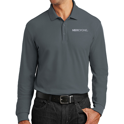 Port Authority Men's Long Sleeve Core Classic Pique Polo