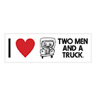 I Love Two Men and a Truck Window Cling