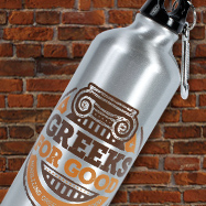 Greeks for Good Aluminum Water Bottle