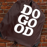 Do Good Brown Cinch Bag