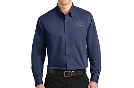 Port Authority Tonal Pattern Button Down