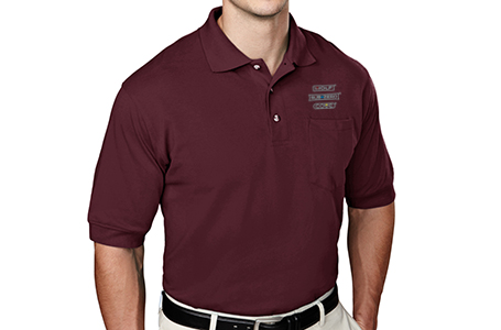 TriMountain Men's Pique Knit Polo with Pocket