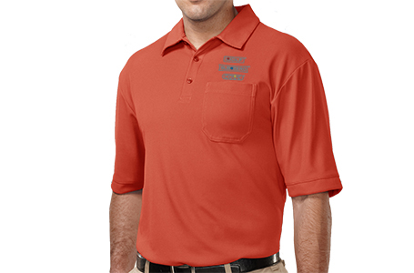 TriMountain Men's Waffle-Knit Pocket Polo