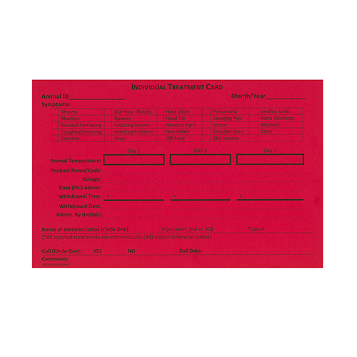 Red Treatment Card