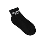 Short Socks with Text Logo (1 Pair)