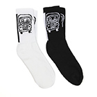 Crew Socks with Knit-In Logo (1 Pair)