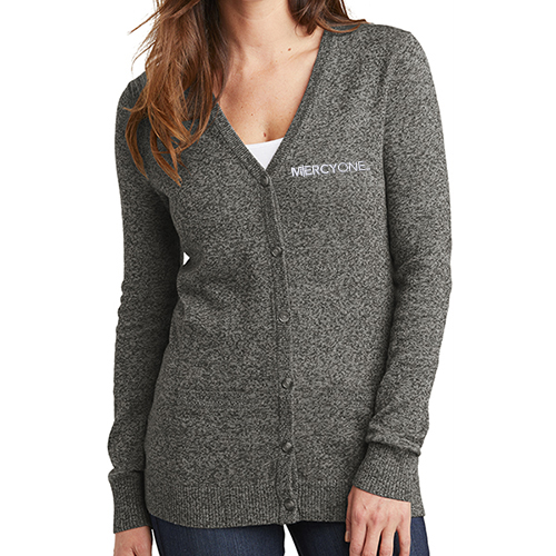 Port Authority Women's Marled Cardigan Sweater